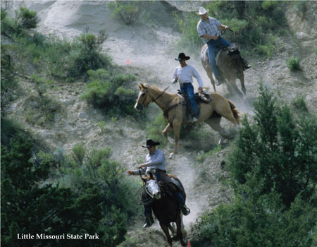 Horse Riding at Little Missouri State Park