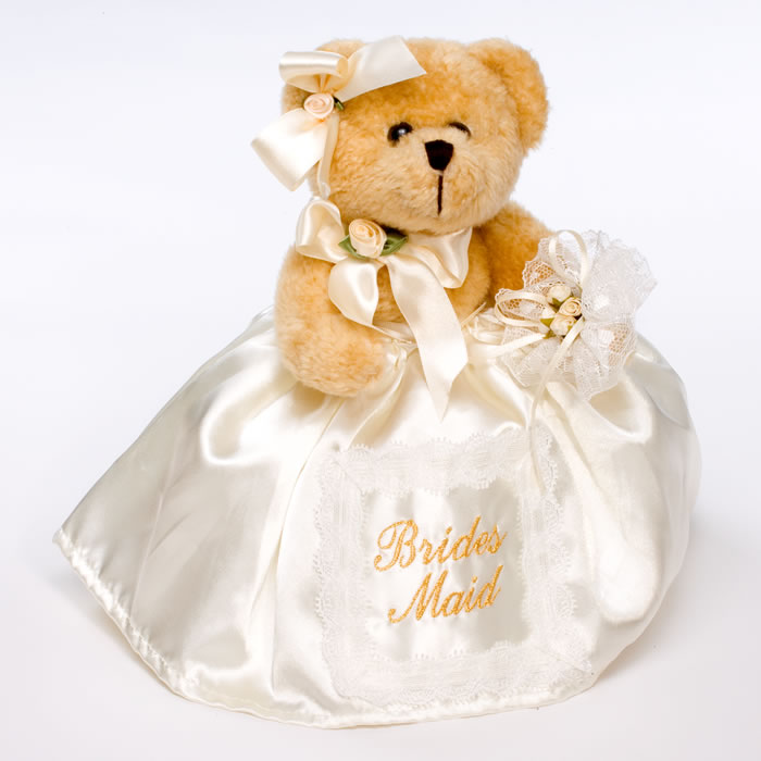 personalized teddy bear as a bridesmaid gift