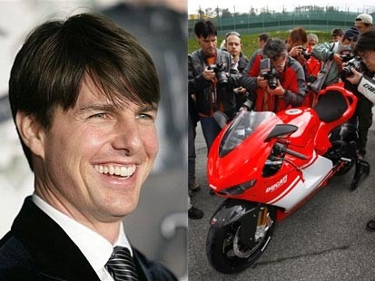 Tom Cruise and His Ducati Desmosedici RR