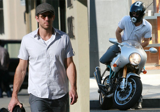 Ryan Reynolds and His Ducati Paul Smart 1000