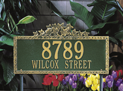 Whitehall Address Plaque