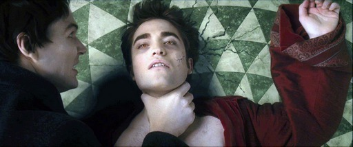 Edward downed by a Volturi fighter