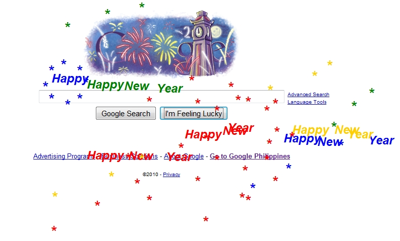 "Google's Unique ""Happy New Year"" Greeting"