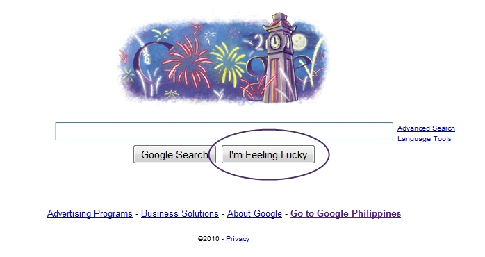 Google's I'm Feeling Lucky Button