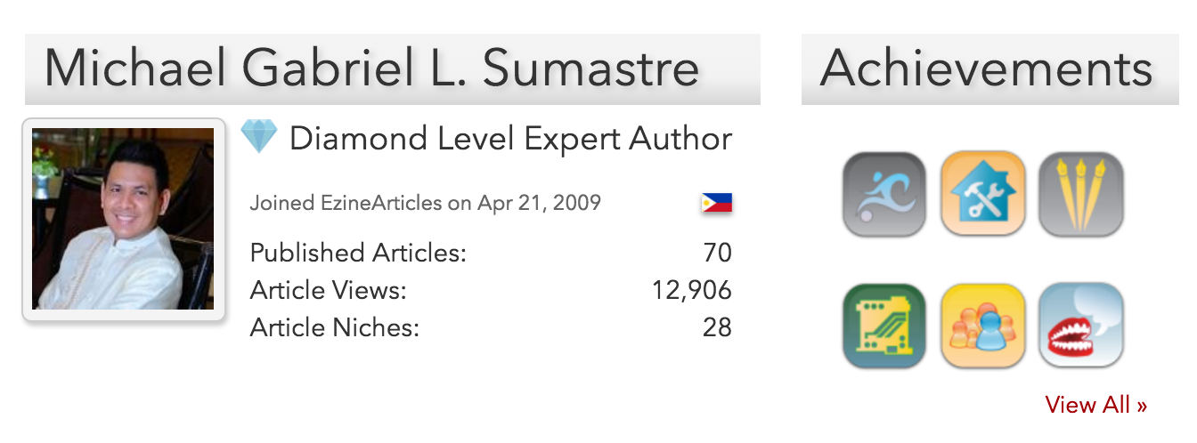 TheFinestWriter.com EzineArticles Diamond Level Expert Author